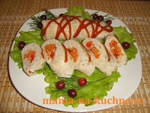 vashi recepty kurinye rulety s nachinkoj 300x225 Куриные рулеты с начинкой