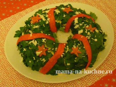 krasivye salaty na novyj god mama na kuchne.ru  Красивые салаты на новый год    кто бы мог подумать?! (Обычные салаты в необычном оформлении)