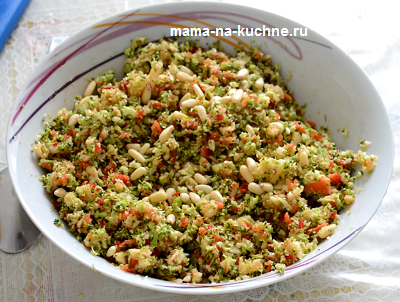 Салат из капусты брокколи, сайт Мама на кухне.ру